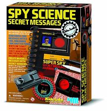SPY SCIENCE SECRET MESSAGE KIT BY KIDZ LABS - BRAND NEW AND SEALED!!