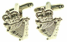 ROYAL IRISH REGIMENT HARP ONLY CLASSIC HAND MADE GOLD PLATED CUFFLINKS