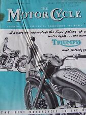 THE MOTORCYCLE MAGAZINE APR 1951 BUYERS' GUIDE 1951 MODELS TRAVERS TROPHY TRIAL