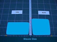 Außenspiegel Spiegelglas Ersatzglas Mercedes W124 Li.od Re.sph.Konvex Blau Glas