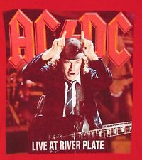 """Tee Shirt, Rock Band, AC/DC, """"Live At River Plate"""", Red, Adult Large"""