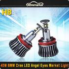 20W 7000K White BMW H8 LED Angel Eyes Ring Marker Light Bulbs For 1 3 5 X Series