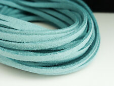 5m x 3mm Turquois Blue Faux Imitation Suede Cord Thong Lace Beading Necklace