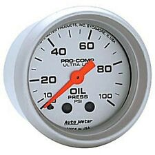 "Auto Meter 4321 Gauge Oil Pressure 2 1/16"" 100psi Mechanical Ultra-Lite"