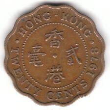 Hong Kong 1978 20 Cents Nickel-Brass Coin