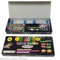 2 x FRIENDSHIP GIRLS KIDS 600 LOOM RUBBER BANDS 24 S-CLIPS & HOOK TOOL BOX KIT