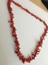 Wunderschöner Antik Kette Korallenkette Vintage Collier Koralle Astkoralle 53gr