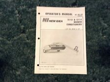 986886 - Is A New Original Operators Manual For A New Idea 5112, 5114 Mower