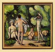 IMPRESSIONISMUS Cezanne FÜNF MÄNNLICHE BADENDE AKT FAKSIMILE 67 im Goldrahmen