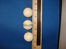Golf Ornament String Of 3 Golf Balls 522143  190