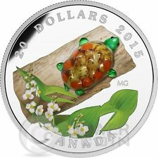 VENETIAN GLASS TURTLE Broadleaf Arrowhead Flower Murano Silver Coin Canada 2015