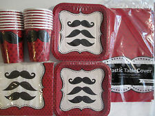 MUSTACHE - Birthday Party Supplies Set Pack Kit 16