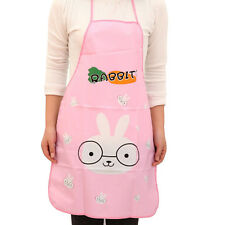 Women Cute Cartoon Waterproof Apron Kitchen Restaurant Cooking Bib Aprons