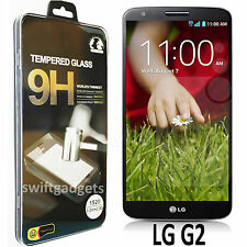 GENUINE TEMPERED GLASS ANTI-SCRATCH SCREEN PROTECTOR GUARD FOIL FOR LG G2 D802