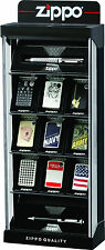 Zippo 15 Piece Lockable Counter Top Display, Brand New in Box No Lighters 142707
