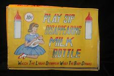 Vintage 1950's Play & Sip Toy Doll Baby Bottles Store Display Of 24 w/Box NICE