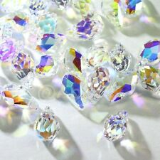 12 pcs Swarovski 6007 7X4mm Small Faceted Briolette Teardrop Crystal Clear AB