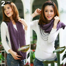 Winter Warm Wome Infinity Wrap Shawl Cable Knit Cowl Neck Long Scarf