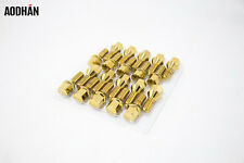 BMW 12 X 1.5 Gold LUG BOLT WHEELS LOCKS BOLTS  (SET OF 20)