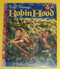 Walt Disney's Robin Hood 1955 Little Golden Book B Edition Great Pictures! SEE!