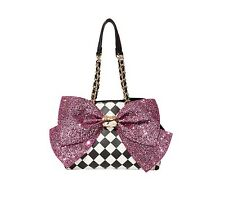 NWT Betsey Johnson Bow-Lesque Pink Sequin Bow Satchel - HIGHLY COLLECTABLE!