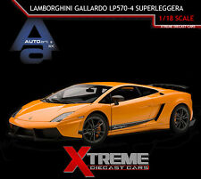 AUTOART 74656 1:18 LAMBORGHINI GALLARDO LP570-4 SUPERLEGGERA ORANGE SUPERCAR