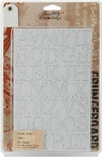 RETIRED Tim Holtz Scrapbook Grungeboard Chipboard Mixed Mini's Alphabet TH92776