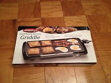 Brand New Presto Cool Touch Electric Griddle 1500 Watts Egg Nonstick Pan Skillet