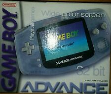 Nintendo Game Boy Advance Glacier Handheld System New Factory Sealed