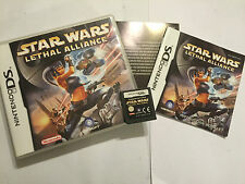 NINTENDO DS DSL DSi GAME STAR WARS LETHAL ALLIANCE +BOX INSTRUCTION COMPLETE