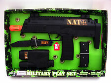 "NATO ® 14"" Toy Machine Gun play set Sound Battery operated USA seller FREE ship"