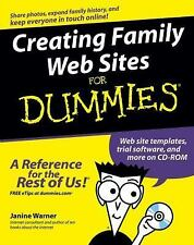 NEW - Creating Family Web Sites For Dummies by Warner, Janine
