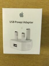 Genuine Retail USB Mains Charger Wall Adapter For Apple iPhone 5S/5C/5/4S/SE