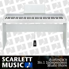 Korg B1 88 Note Digital Piano White w/Wooden Stand *NEW* Update From The SP-170s