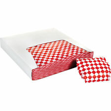 "Restaurant Deli Paper Food / Basket Liner Wrap, 12""x12"" Red Checkered, 2000 ct"