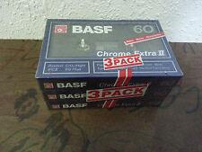 MC Kassetten Leerkassetten BASF chrome extra II type 2 60 3x pack pcs IEC II