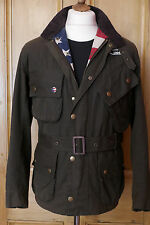 Mens barbour new baker steve mcqueen ciré veste olive m medium 38 rrp £ 299
