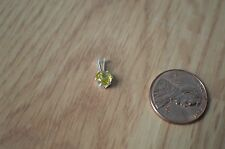 0.44ct Greenish Yellow Sphene Pendant Quality Sterling Silver ~ Red Sparkles