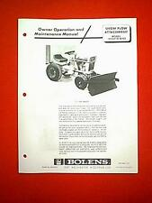 BOLENS HUSKY 1050 TRACTOR SNOW PLOW ATTACHMENT 18532-01 & 02 OWNER'S MANUAL