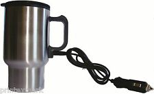 Stainless Steel Travel Coffee Mug Insulated12V Heated Thermos,Plugin Car Charger
