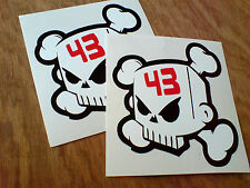 KEN BLOCK 43 SKULL Car VanToolbox Stickers Decals 2 off 95mm