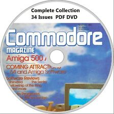 COMMODORE magazine COMPLETE COLLECTION on DVD all 34 issues! Amiga, C64