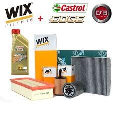 KIT TAGLIANDO OLIO CASTROL EDGE 5W30 6LT + 4 FILTRI WIX BMW X3 2.0 E83 110 KW