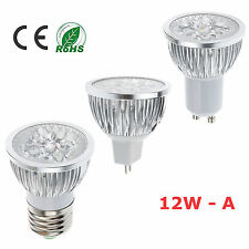 Dimmable LED 9W 12W MR16 E27 GU10 White Spot Light Epistar CREE Bulb Lamp