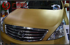 "24""x50"" 3D GoldenCarbon Fiber Vinyl Car Wrap Sheet Roll Film Sticker Decal Sales"