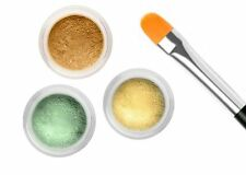 CONCEALER CORRECTOR GREEN YELLOW BISQUE KIT WITH FREE BRUSH
