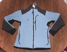 MOUNTAIN HARD WEAR - BLUE/GRAY FLLECE FULL-ZIP HIKING/TRAIL JACKET - MISSES 10