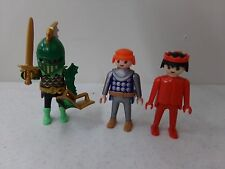 Vintage 1993 Playmobil Lot of 3 Figures Knight, Sword, Shield ~ Geobra