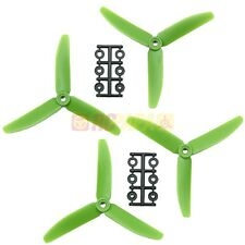 "HQ 5"" 5x4x3 Glass Fiber Tri-Blade Propellers Props CCW/CW Multirotor Drone Green"