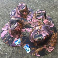 4 LOT Australian Outback Safari Bucket Flap Boonie Hat NEW HT-852 PINK CAMO X 4